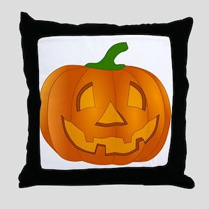 Halloween Jack-o-Lantern Pumpkin Throw Pillow