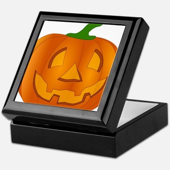 Halloween Jack-o-Lantern Pumpkin Keepsake Box