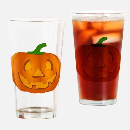 Halloween Jack-o-Lantern Pumpkin Drinking Glass