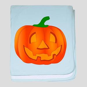 Halloween Jack-o-Lantern Pumpkin baby blanket