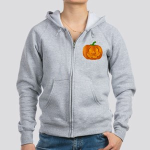 Halloween Jack-o-Lantern Pumpkin Zip Hoodie