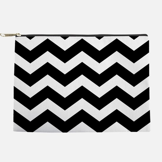 Black And White Chevron Makeup Pouch