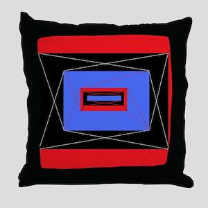 Retro star square Throw Pillow