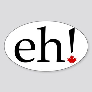 eh! Oval Sticker