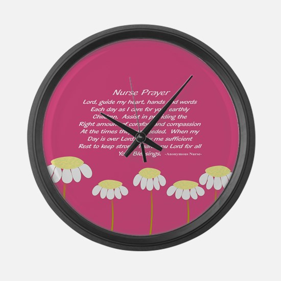 Nurse Prayer Blanket PILLOW 2 Large Wall Clock