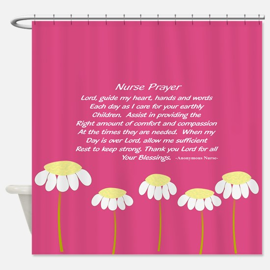 Nurse Prayer Blanket PILLOW 2 Shower Curtain