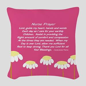 Nurse Prayer Blanket PILLOW 2 Woven Throw Pillow