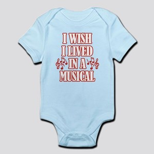 I Wish I Lived In A Musical Baby Light Bodysuit