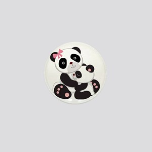 Cute Mom & Baby Panda Bears Mini Button