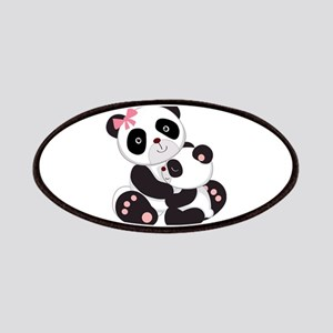 Cute Mom & Baby Panda Bears Patches