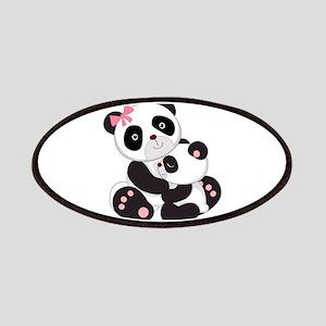 Cute Mom & Baby Panda Bears Patches