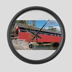 Covered Bridge PA Large Wall Clock