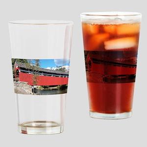 Covered Bridge PA Drinking Glass