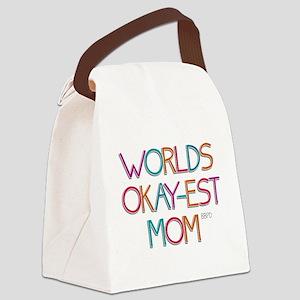 Worlds Okay-est Mom Canvas Lunch Bag