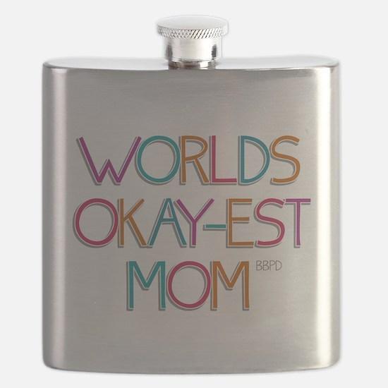 Worlds Okay-est Mom Flask