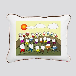 Teeth Art Rectangular Canvas Pillow