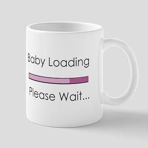 Baby Loading Please Wait Status Bar Mug