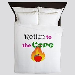Rotten to the Core Queen Duvet