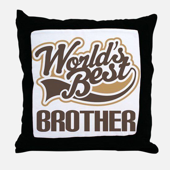 Worlds Best Brother Throw Pillow