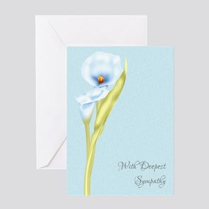 Simply Stated Floral Lily Sympathy Greeting Card