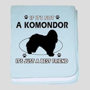 My Komondor is more than a best friend baby blanke