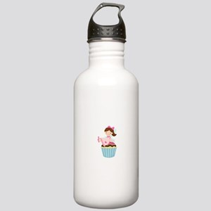 Cupcake Fairy Stainless Water Bottle 1.0L