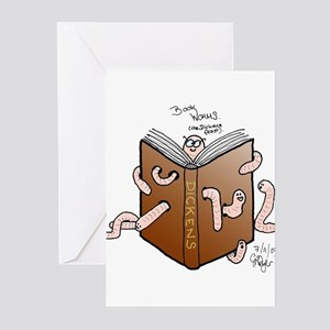 Bookworms (the Dickens Feast) Greeting Cards (Pack