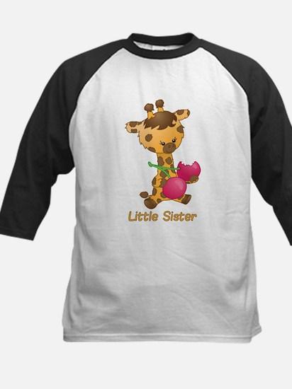 Little Sister Giraffe Kids Baseball Jersey