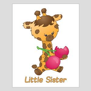 Little Sister Giraffe Small Poster