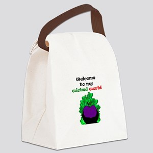 Welcome to my world Canvas Lunch Bag