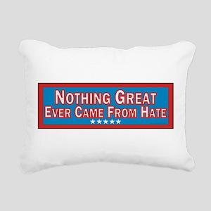 Stop Hate Rectangular Canvas Pillow