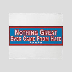 Stop Hate Throw Blanket