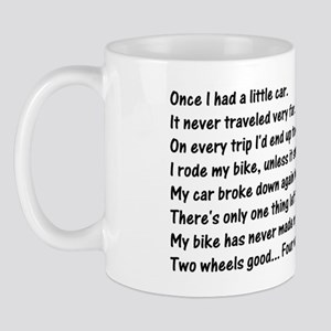 Humorous Bicycle Mug
