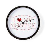 'I Love My Master'  Wall Clock