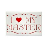 I Love My Master Rectangle Magnet