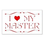 'I Love My Master' Rectangle Sticker