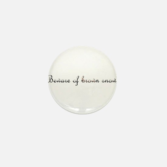 Brown Snow Mini Button