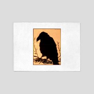 Raven, crow, bird art! 5'x7'Area Rug