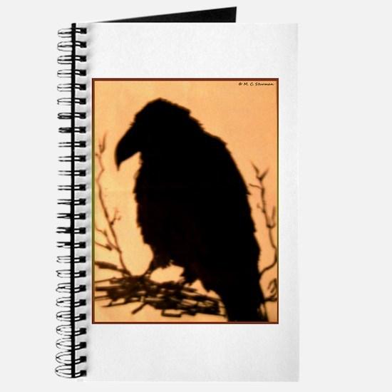 Raven, crow, bird art! Journal