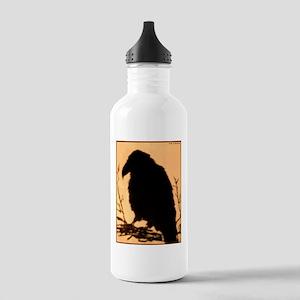 Raven, crow, bird art! Water Bottle