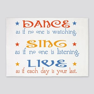 Dance Sing Live 5'x7'Area Rug