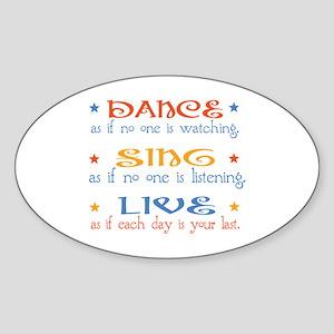 Dance Sing Live Sticker (Oval)