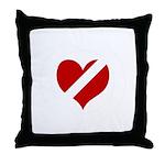 'Heartless Valentine' Throw Pillow