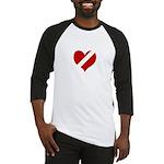 Heartless Valentine Black / White Baseball Jersey