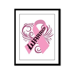 Breast Cancer Warrior Framed Panel Print