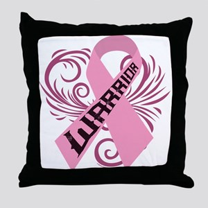 Breast Cancer Warrior Throw Pillow