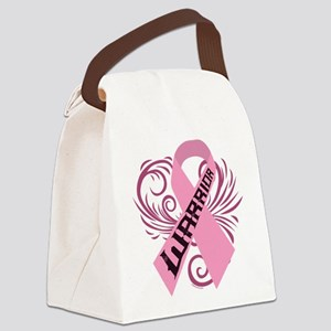 Breast Cancer Warrior Canvas Lunch Bag