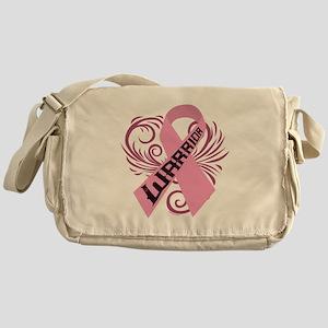Breast Cancer Warrior Messenger Bag