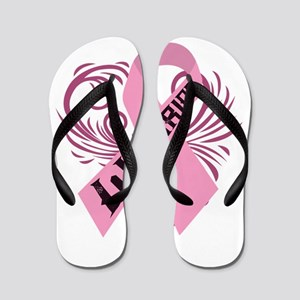 Breast Cancer Warrior Flip Flops