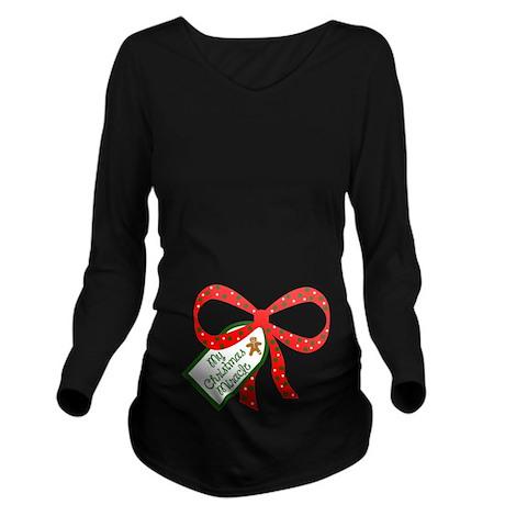 My Christmas Miracle Long Sleeve Maternity T-Shirt